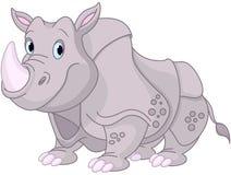 gullig noshörning Arkivbild