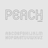 Gullig och enkel Sans Serif stilsort i stora bokstav Royaltyfri Foto