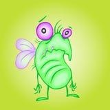 Gullig olycklig fluga också vektor för coreldrawillustration Royaltyfri Bild