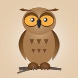 gullig owl Arkivbild