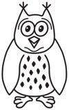 gullig owl för tecknad film Arkivfoton