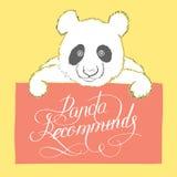 gullig panda Fotografering för Bildbyråer