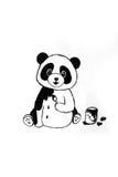 gullig panda Arkivfoto
