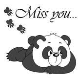 Gullig panda för vektor på vit bakgrund Royaltyfria Bilder