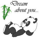 Gullig panda för vektor på vit bakgrund Royaltyfria Foton