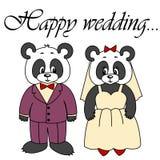 Gullig panda för vektor på vit bakgrund Royaltyfri Foto