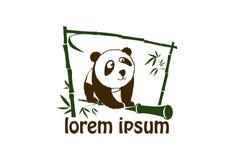 Gullig pandasymbol Royaltyfria Bilder