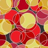 Gullig pastellfärgad modell Sömlös textur med cirklar Arkivbilder