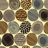 Gullig pastellfärgad modell Sömlös textur med cirklar Royaltyfri Fotografi