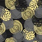 Gullig pastellfärgad modell Sömlös textur med cirklar Fotografering för Bildbyråer