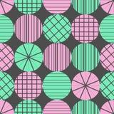 Gullig pastellfärgad modell Sömlös textur med cirklar Royaltyfria Bilder