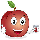 Gullig persika med ny sammanpressad fruktsaft Fotografering för Bildbyråer