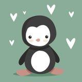 gullig pingvin Arkivfoton