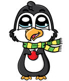 Gullig pingvin Arkivbilder