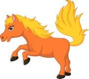 Gullig ponnyhästtecknad film Royaltyfri Fotografi