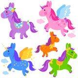 Gullig ponnysamling Royaltyfri Bild