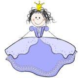 gullig princess stock illustrationer