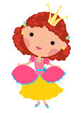 gullig princess Arkivbild