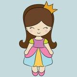 gullig princess Arkivfoto