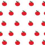 Gullig röd äppletapet Arkivfoton