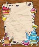 gullig ram för kaffe 2 Arkivbild