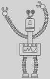 Gullig robot Fotografering för Bildbyråer