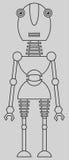 Gullig robot Royaltyfri Bild