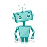gullig robot för tecknad film Arkivbild