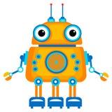gullig robot för tecknad film Arkivfoto