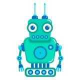 gullig robot för tecknad film Fotografering för Bildbyråer