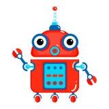 gullig robot för tecknad film Arkivbilder
