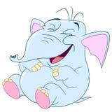 Gullig rolig elefant Arkivbild