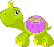 Gullig rolig sköldpadda Fotografering för Bildbyråer