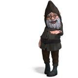 gullig rolig trädgårds- gnome för tecknad film arkivbilder