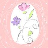 Gullig romantisk bakgrund Royaltyfria Bilder