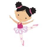 Gullig rosa ballerinavektorillustration Royaltyfri Fotografi
