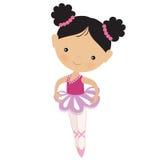 Gullig rosa ballerinavektorillustration Arkivfoton