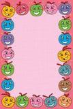 Gullig rosa färgram för boll Royaltyfri Bild