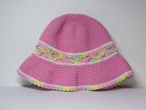 Gullig rosa hatt Fotografering för Bildbyråer