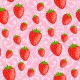 Gullig rosa sömlös valentin dagmodell Arkivfoto