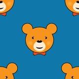 Gullig sömlös modell för nallebjörn Arkivfoton