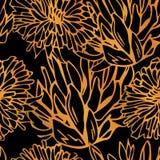 Gullig sömlös modell för vektor Ljus sommarväxt av släktet Trifolium royaltyfri illustrationer