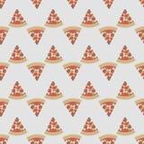 Gullig sömlös modell för vektor med pizzaskivor royaltyfri foto