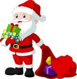 Gullig Santa Claus tecknad film Royaltyfri Fotografi