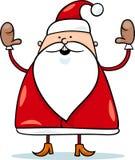 Gullig Santa Claus tecknad filmillustration Arkivbilder