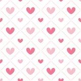 gullig seamless valentin för hjärtamodell s Arkivfoto