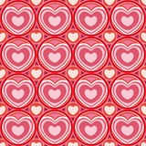 gullig seamless valentin för hjärtamodell s Arkivbilder