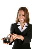 gullig servicekvinna för kund royaltyfria foton