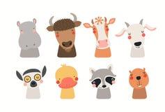 gullig set för djur royaltyfri illustrationer