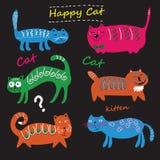 gullig set för katter Arkivfoton